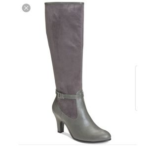 Aerosoles Gray cloudscape tall boots